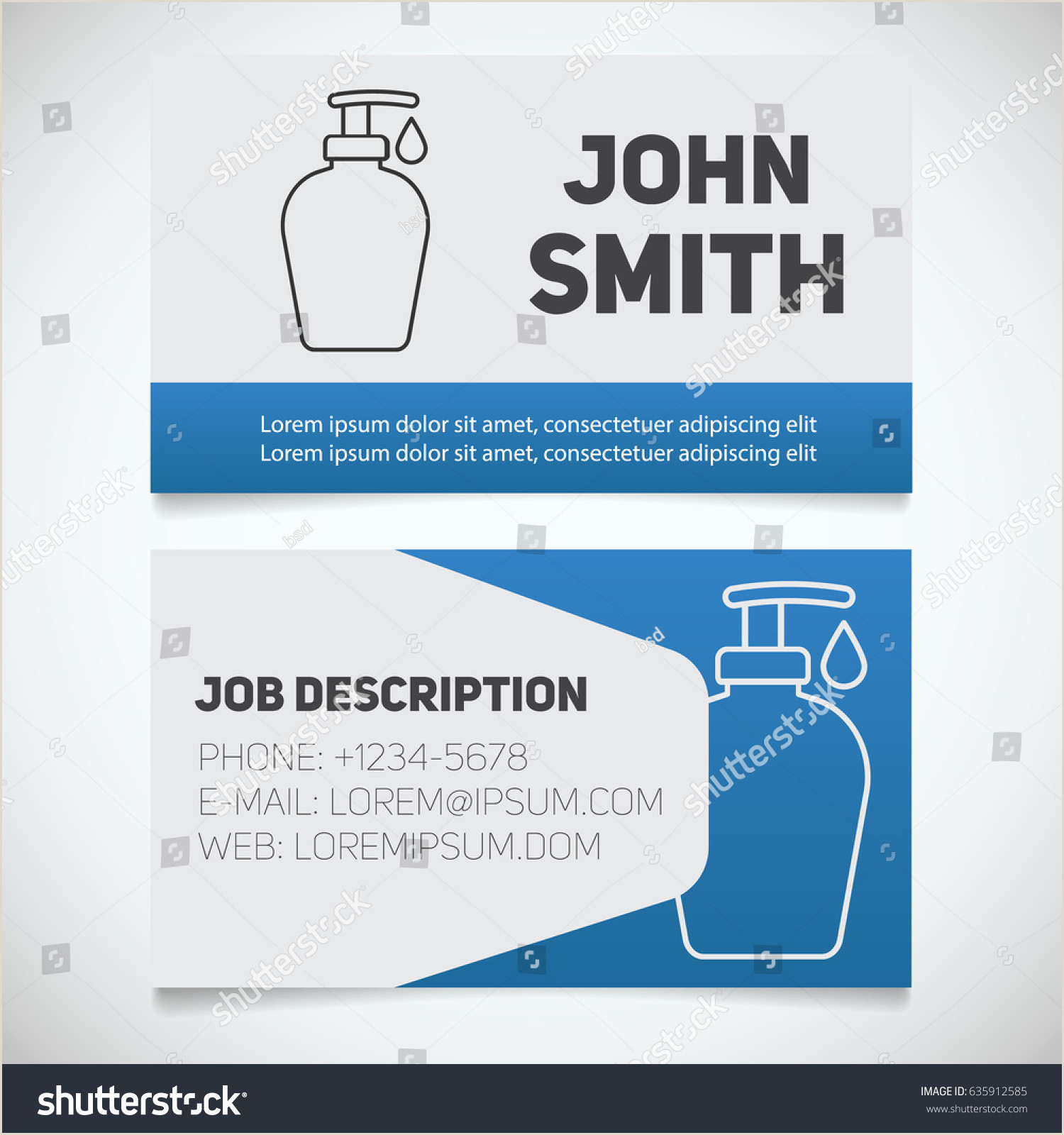 Best Business Cards For Soap Labels Business Card Print Template Liquid Soap Stock Vector