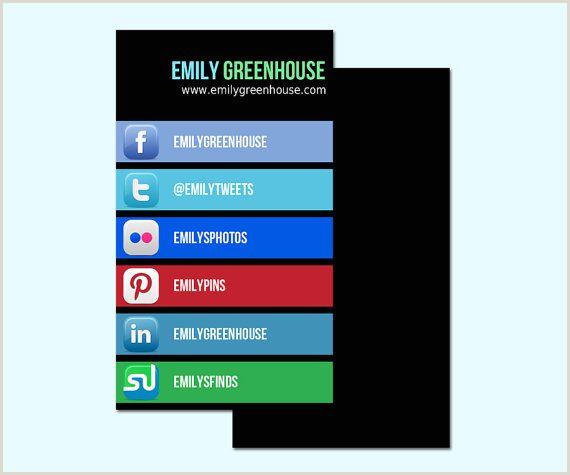 Best Business Cards For Social Media Social Media Business Card