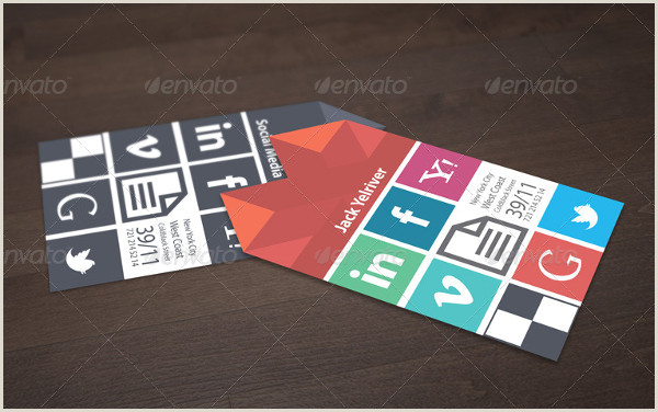Best Business Cards For Social Media Social Media Business Card Template 39 Free & Premium