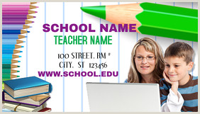 Best Business Cards For Teachers And Educators? 3 190 Educational Business Card Customizable Design