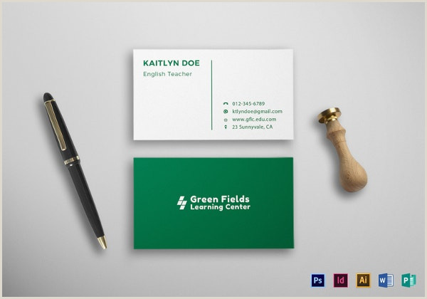 Best Business Cards For Teachers And Educators? 56 Teachers Business Cards Ai Ms Word Publisher