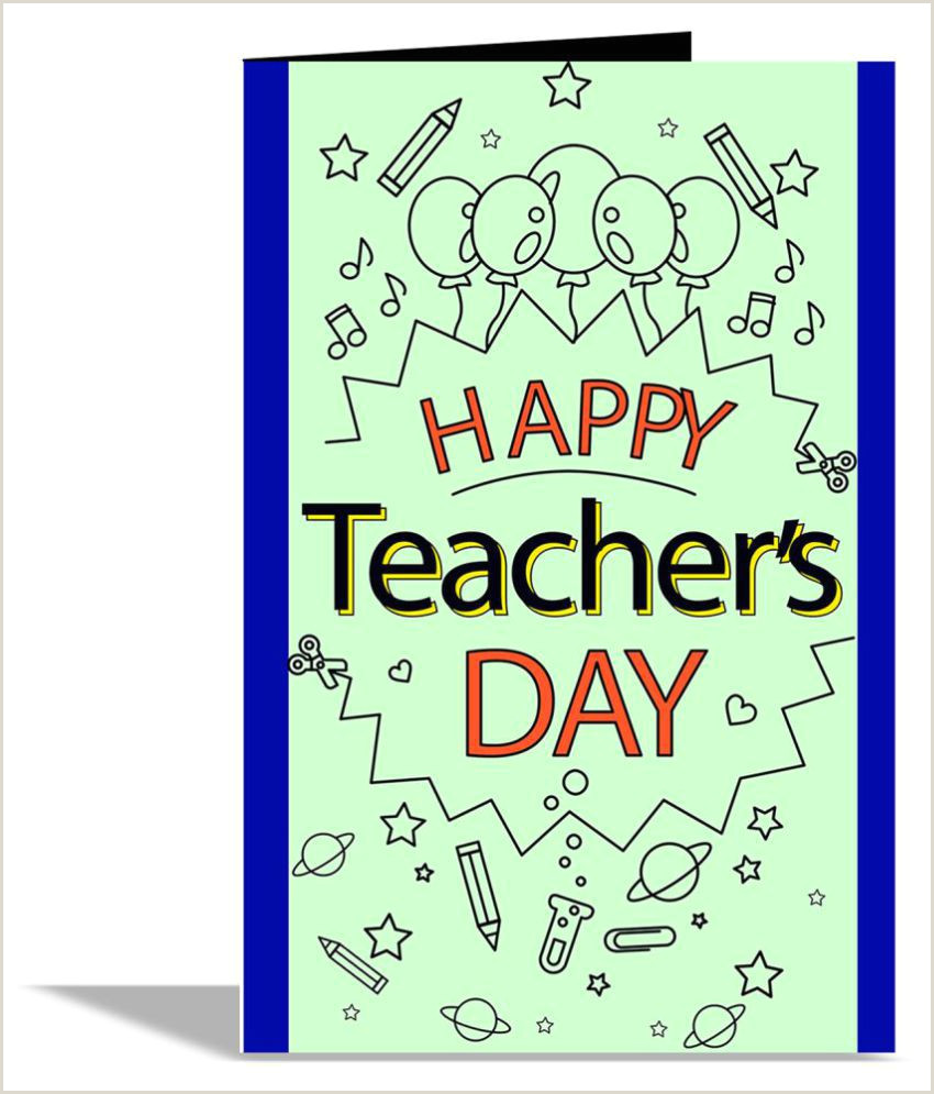 Best Business Cards For Teachers And Educators? Happy Teacher Day Greeting Card