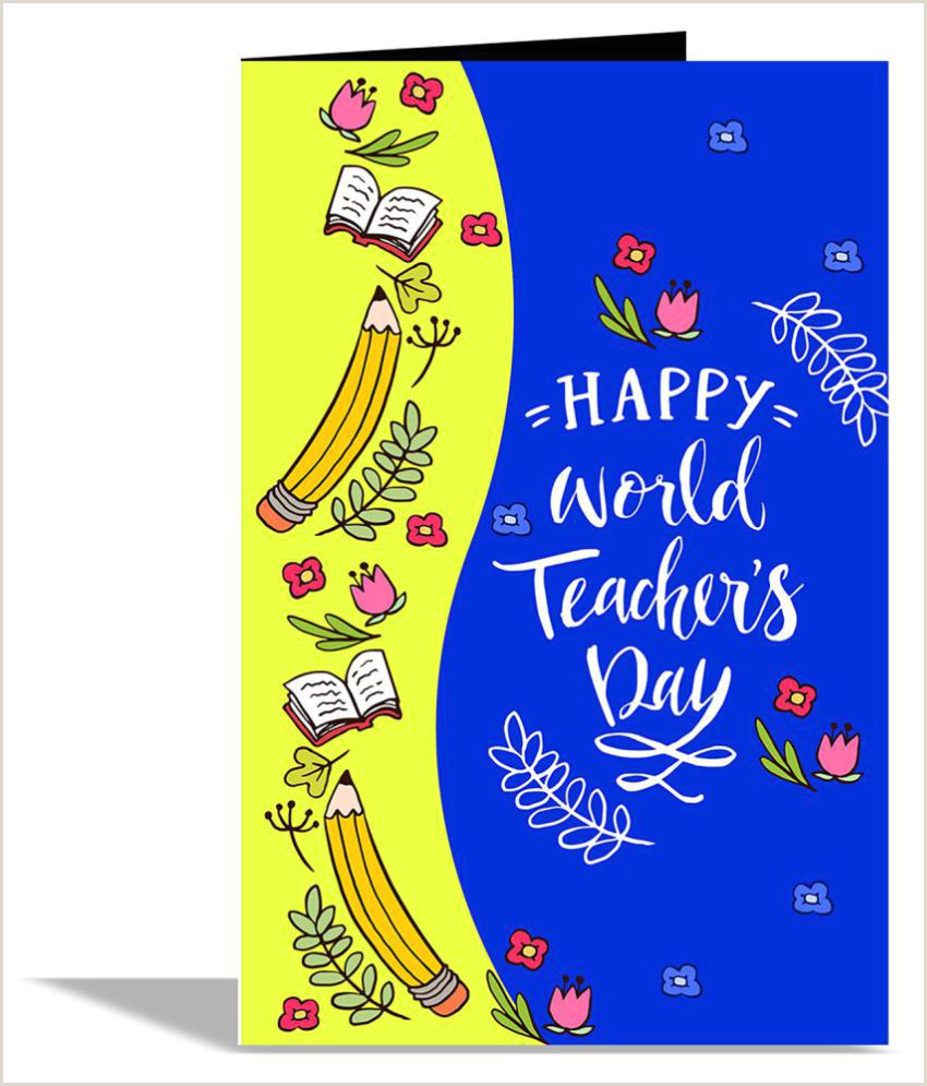 Best Business Cards For Teachers And Educators? Happy World S Teacher Day Greeting Card
