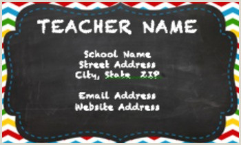 Best Business Cards For Teachers And Educators? Teacher Business Cards Worksheets & Teaching Resources