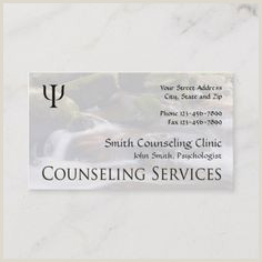 Best Business Cards For Therapists Mental Health Counselor Business Cards