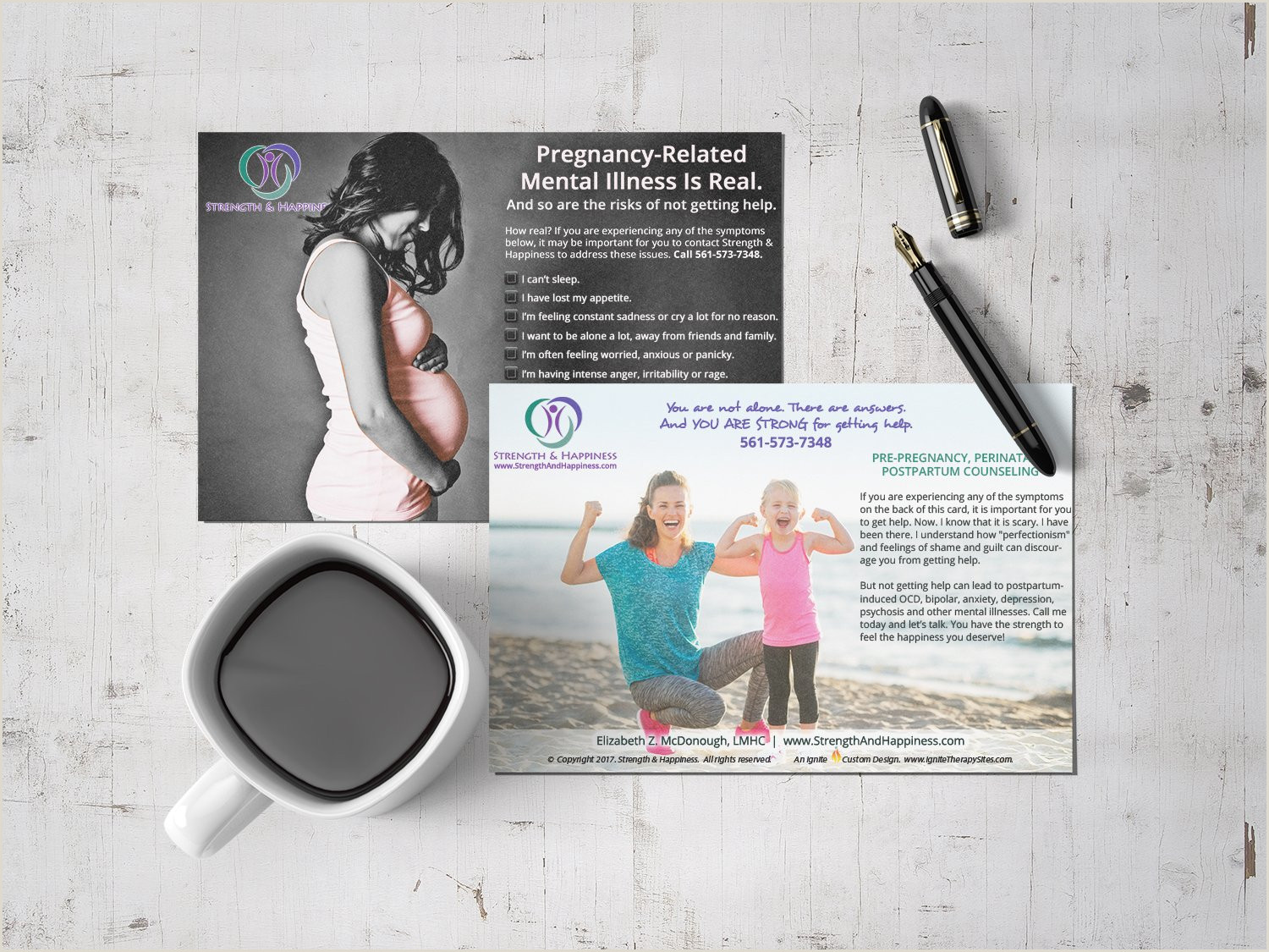 Best Business Cards For Therapists Samples Of Ignite S Logos Print And Websites For Counselors
