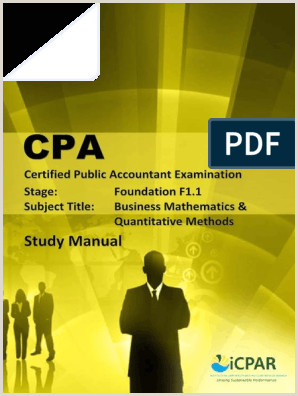 Best Business Cards For Unemployed Job Seekers Cpa F1 1 Business Mathematics & Quantitative Methods