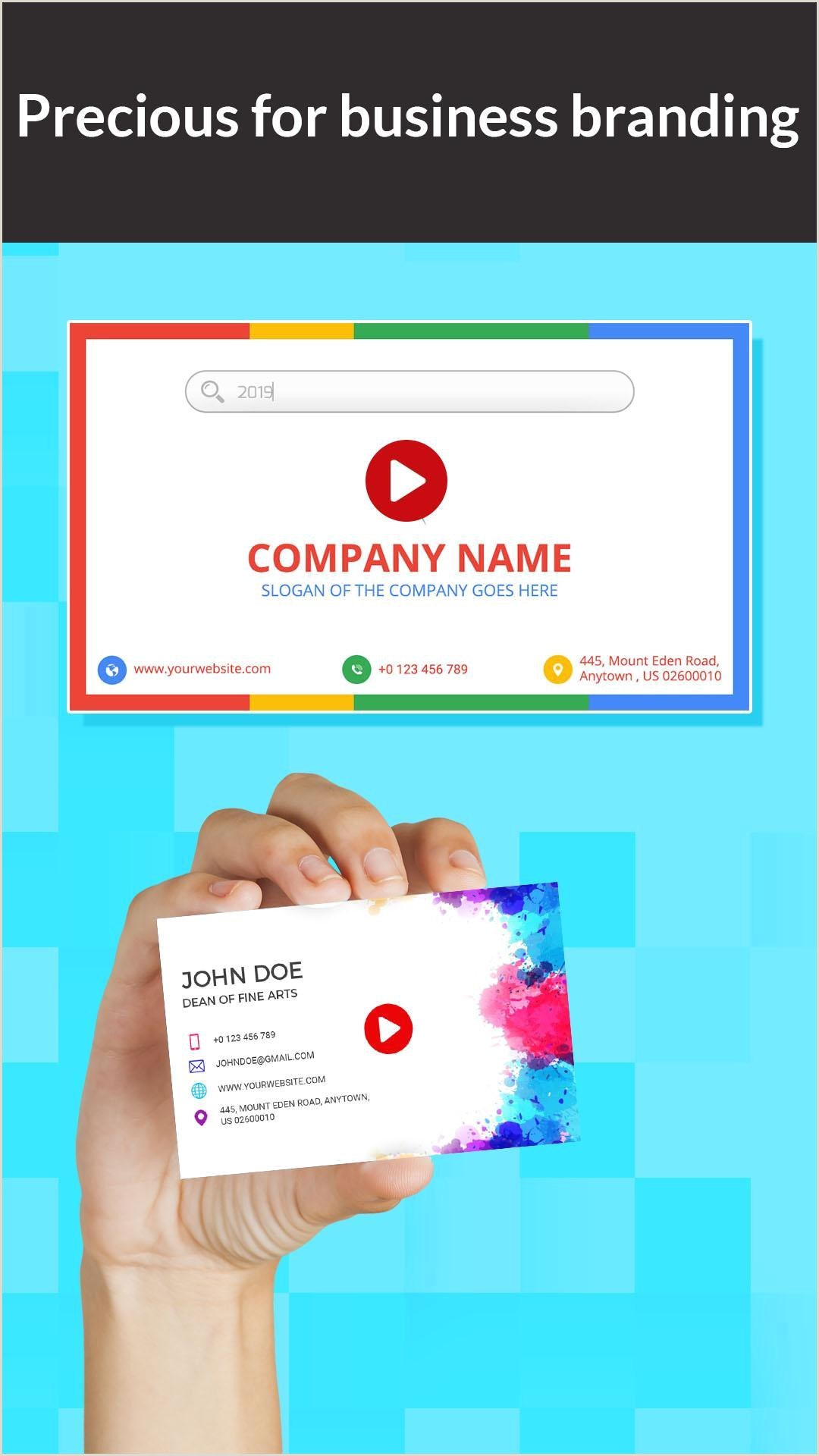 Best Business Cards For Videogrpaher.editor Digital Video Business Card Maker For Android Apk Download