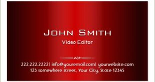 Best Business Cards for Videogrpaher.editor Video Editor Business Cards