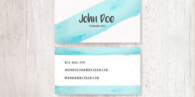 Best Business Cards for Watercolor Artists Abstract Watercolor Artist Business Card Vector Download