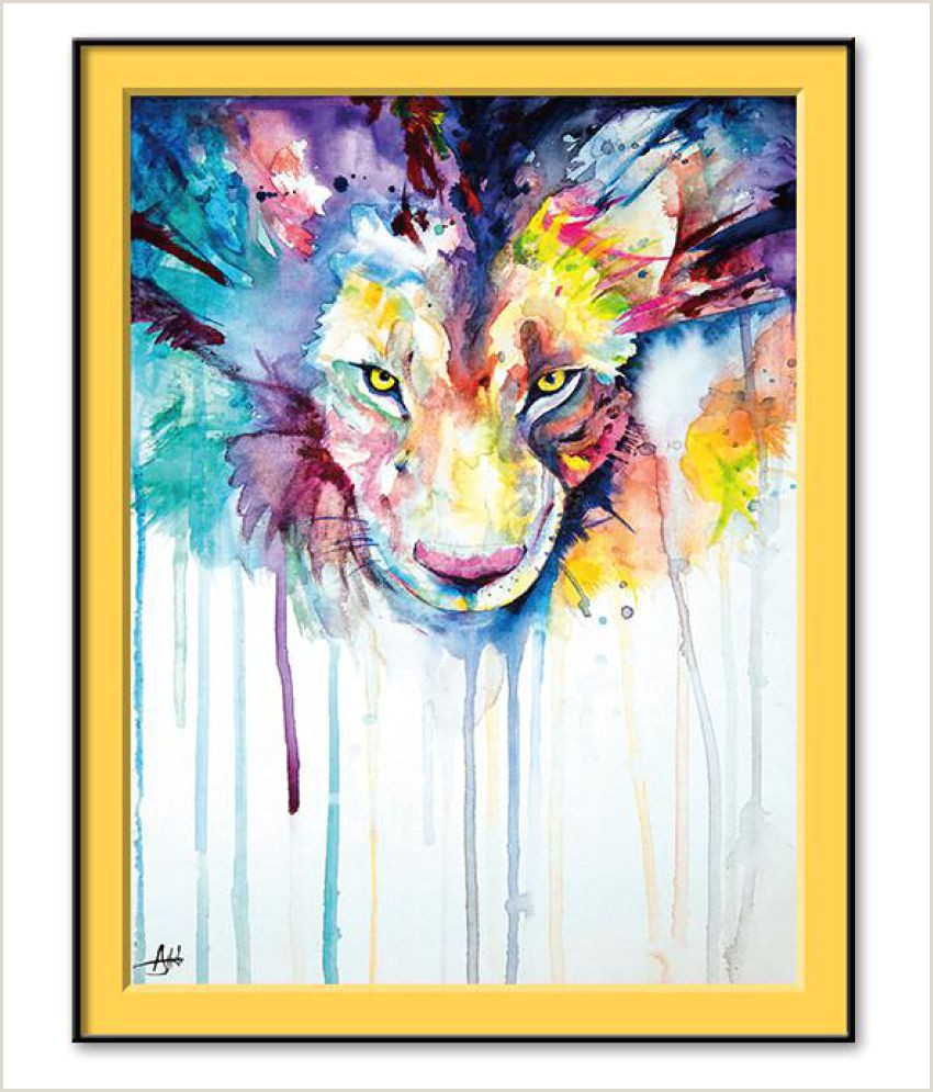 Best Business Cards For Watercolor Artists Creative Watercolor Animal Lion Oil Painting On Canvas Wall