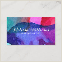 Best Business Cards For Watercolor Artists Watercolor Business Cards Pretty Business Cards