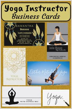 Best Business Cards For Yoga Studio 30 Best Yoga Instructor Business Cards Images