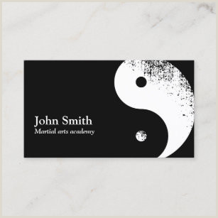 Best Business Cards For Yoga Studio Martial Arts Business Cards Business Card Printing