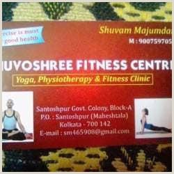 Best Business Cards For Yoga Studio Shuvoshree Fitness Centre Santoshpur Maheshtala Yoga