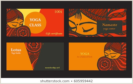 Best Business Cards For Yoga Studio Spa Visit Card Stock S & Vectors