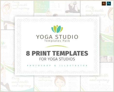 Best Business Cards For Yoga Studio Yoga Studio Business Card Template In Psd Ai & Vector