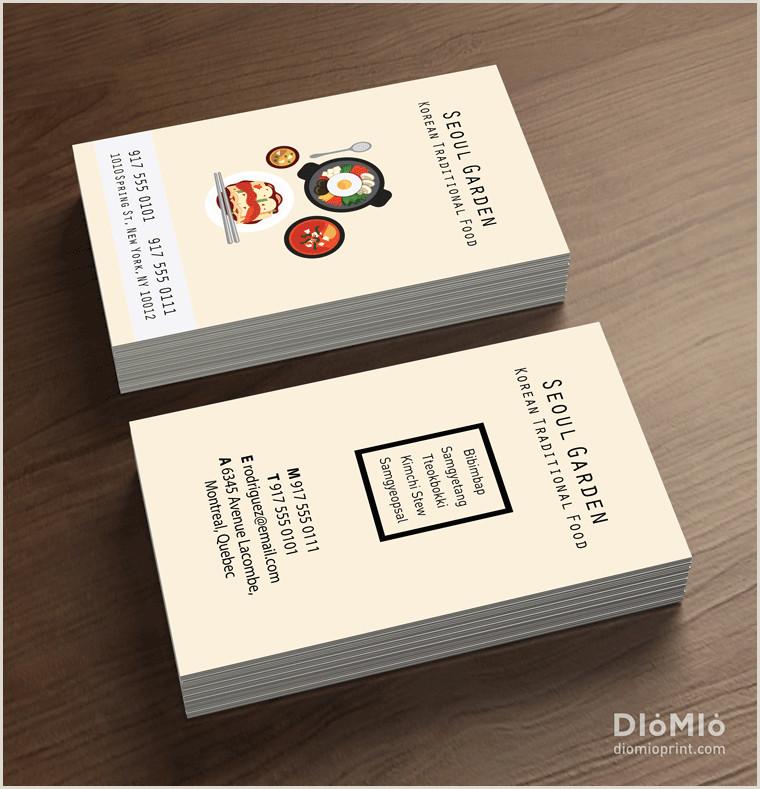 Best Business Cards Korean Korean Food Business Cards Diomioprint