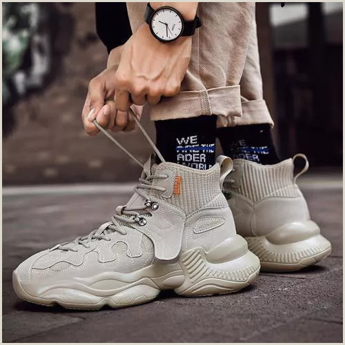 Best Business Cards Korean Socks Shoes Men S High Top Basketball Shoes Korean Trend Autumn Casual Shoes Increased High Tide Brand Gao Men S Sports Tide Shoes Vova