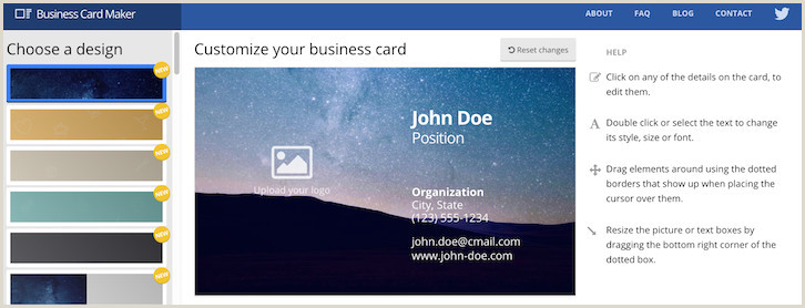 Best Business Cards Maker 10 Free Business Card Makers Templates And Tips