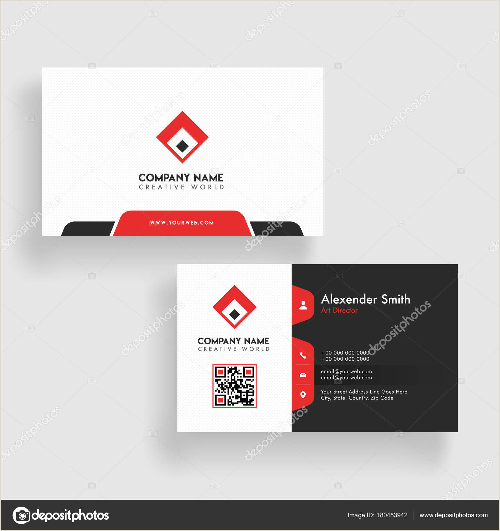 Best Business Cards? Modern Business Card Template Design Both Sided Contact Card F