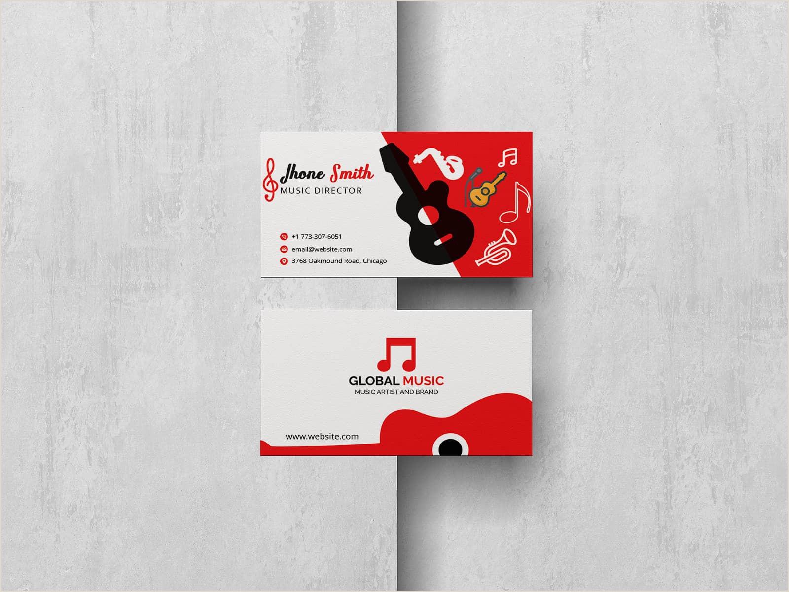 Best Business Cards Musician 5 Best Musician Business Cards 2020