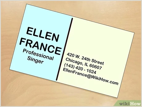 Best Business Cards Musician How To Be E A Famous Singer With Wikihow