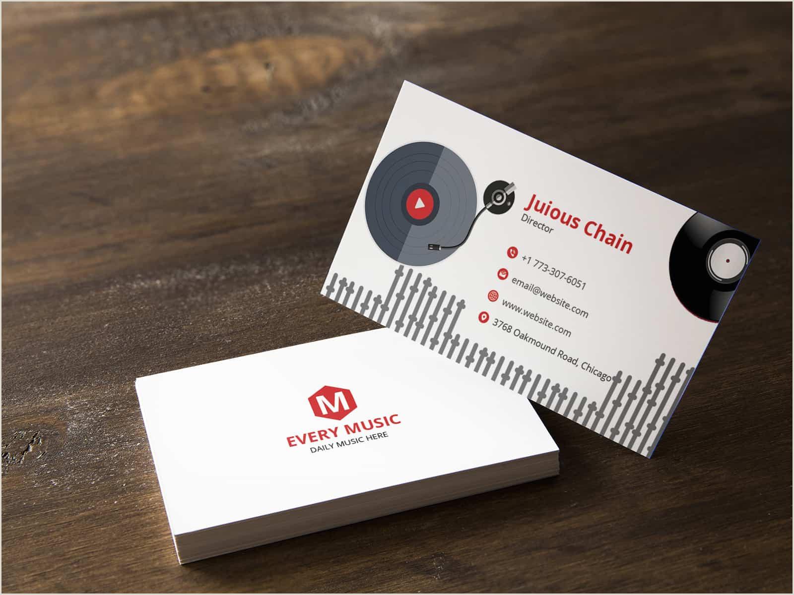 Best Business Cards Musician Musician Business Cards 2020