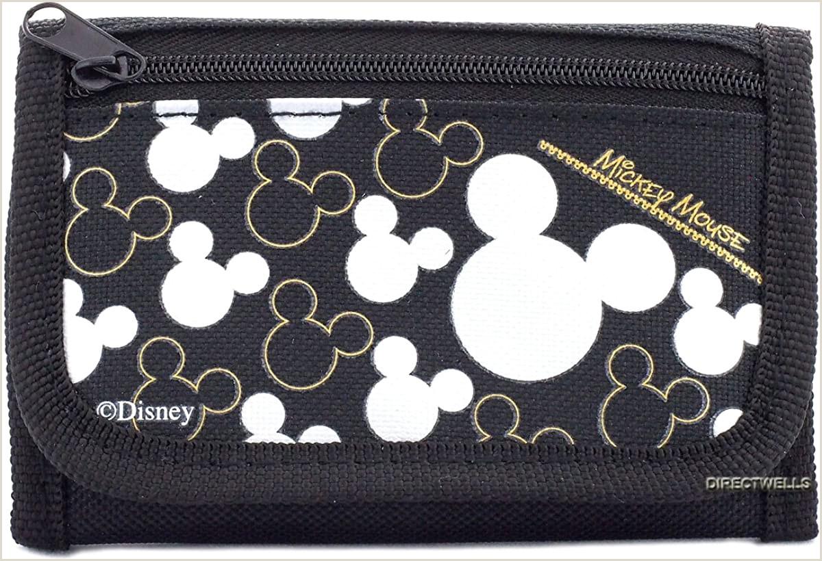 Best Business Cards Nerd Wallet Disney Mickey Mouse Black Silver Trifold Wallet 1 Wallet