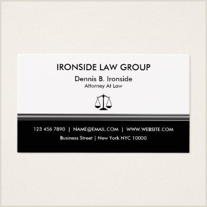 Best Business Cards Nyc Classy Professional Attorney Business Card