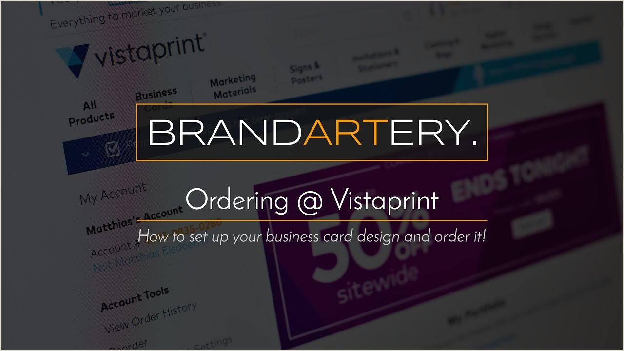 Best Business Cards On Vistaprint Vistaprint Ordering Your Business Cards May 2017