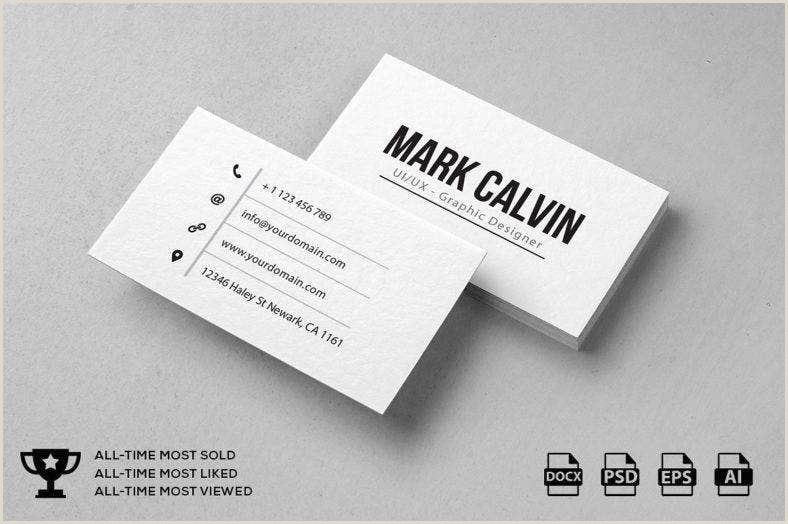 Best Business Cards Personal Trainer 9 Minimal Personal Trainer Business Card Designs