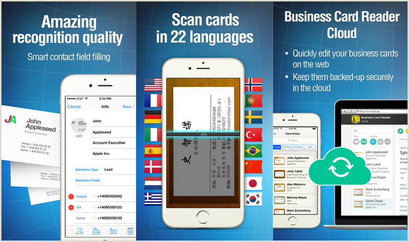Best Business Cards Reader Apps IPhone 9 Business Card Scanner And Organizer Apps For IPhone And