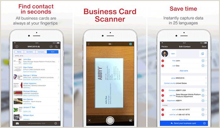 Best Business Cards Reader Apps IPhone Best IPhone Business Card Readers And Scanners In 2020