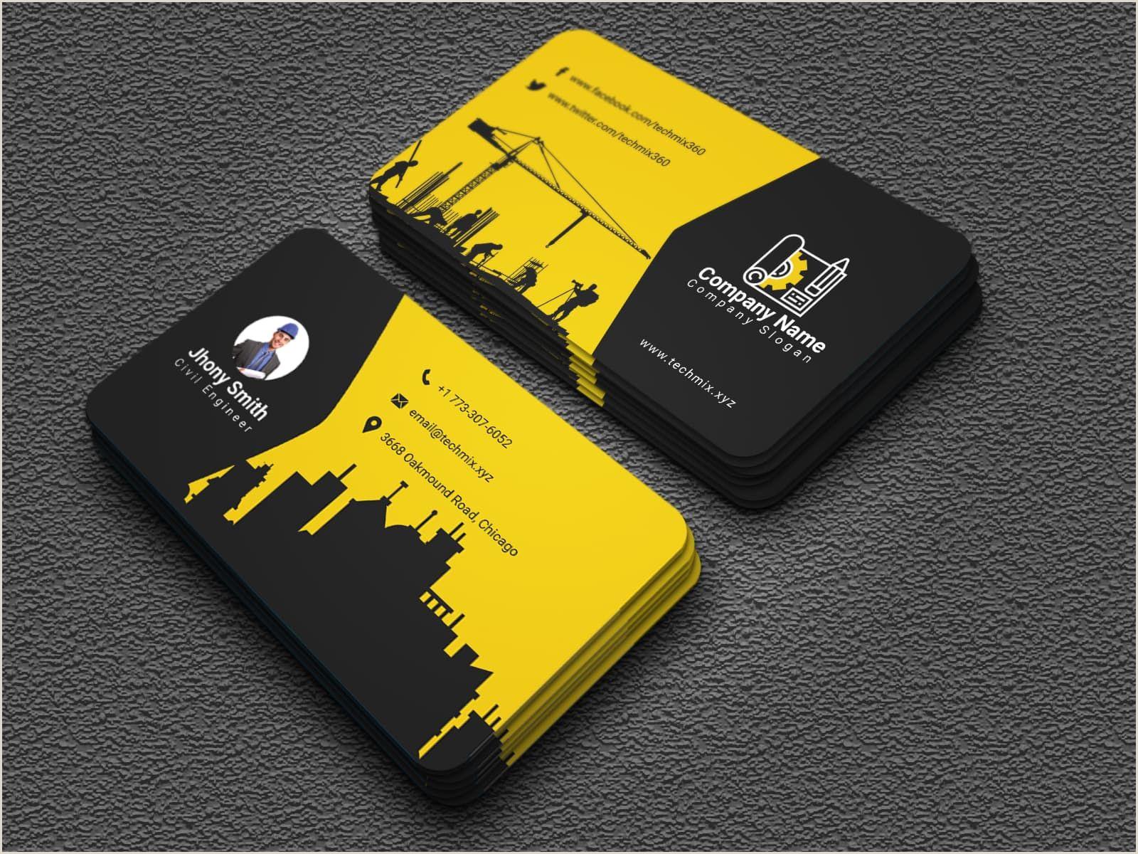 Best Business Cards Slogans Construction 10 Civil Engineer Business Cards Images