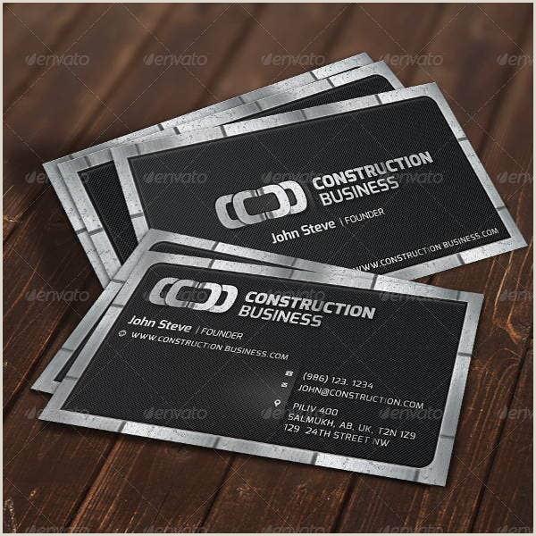 Best Business Cards Slogans Construction 14 Free Construction Business Card Templates Ai Word