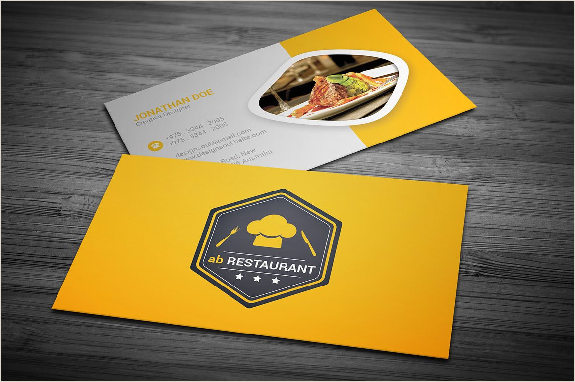 Best Business Cards To Earn Points At Restaurants 30 Delicate Restaurant Business Card Templates