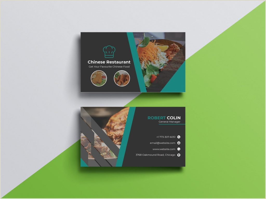 Best Business Cards To Earn Points At Restaurants 5 Best Restaurant Business Card Designs 2020