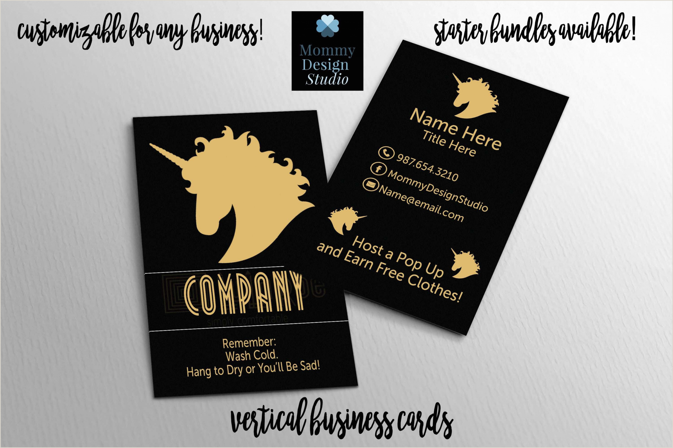 Best Business Cards To Earn Points At Restaurants Gold Unicorn Business Card Home Fice Branding Guide
