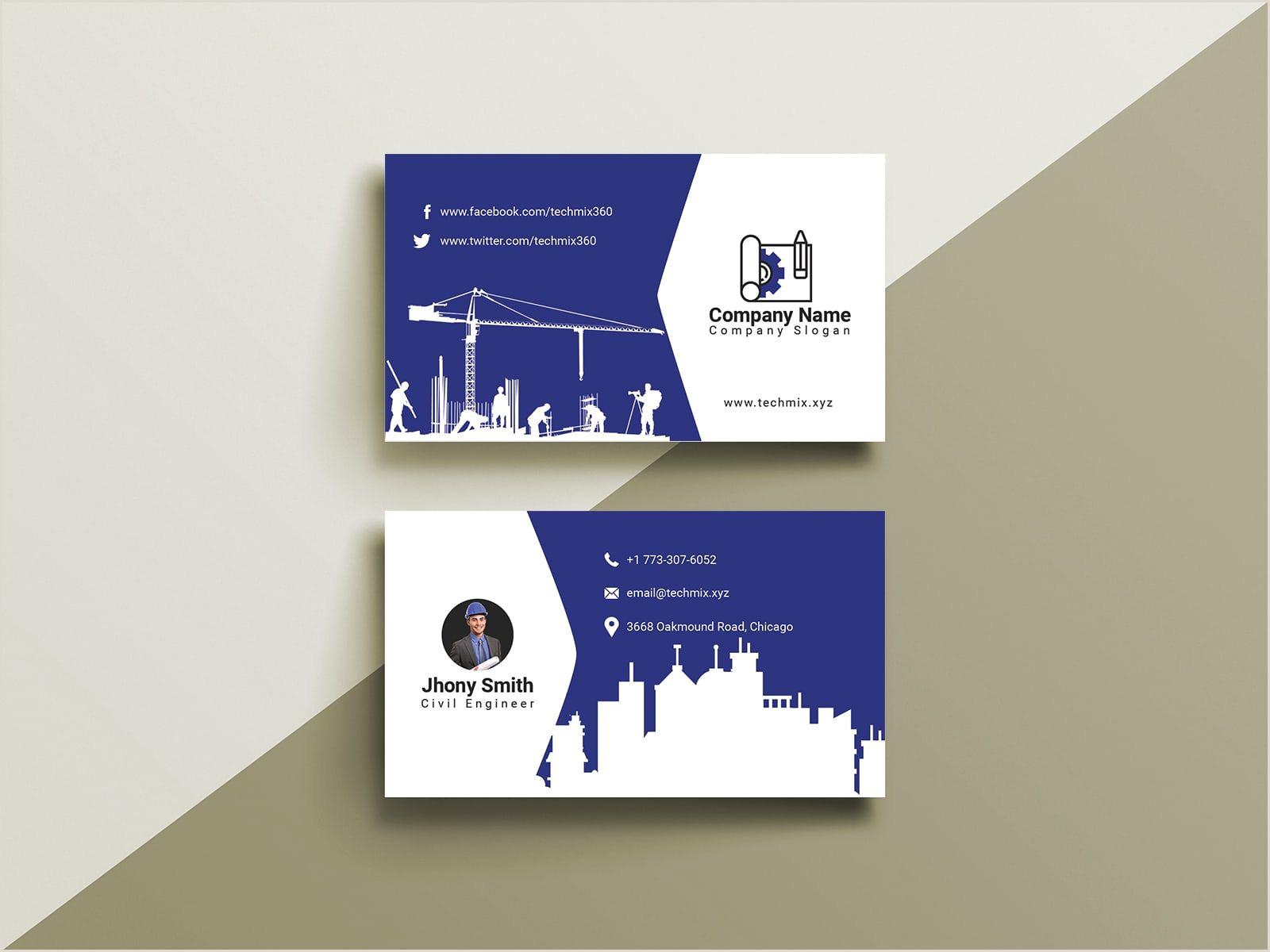 Best Business Cards Website 10 Civil Engineer Business Cards Images