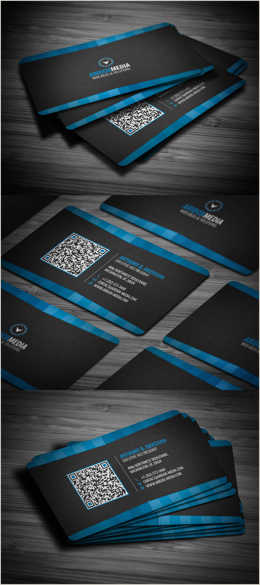 Best Business Cards With Photo Professional Corporate Business Card By Flowpixel On