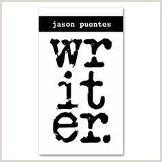 Best Business Cards Writer 10 Best Creative Business Cards For Writers Images