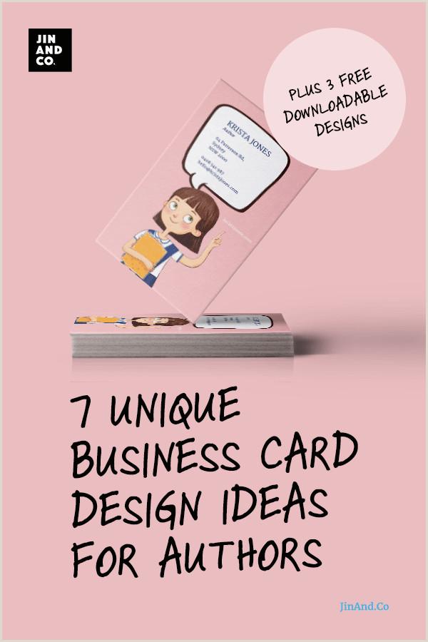 Best Business Cards Writer 7 Unique Business Card Design Ideas For Authors Plus 3 Free