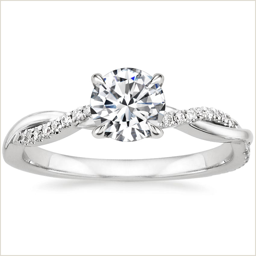 Best Gold Business On Earth 18k White Gold Petite Twisted Vine Diamond Ring 1 8 Ct Tw