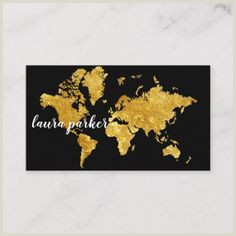 Best Gold Business On Earth 200 Best World Map Business Card Templates Custom
