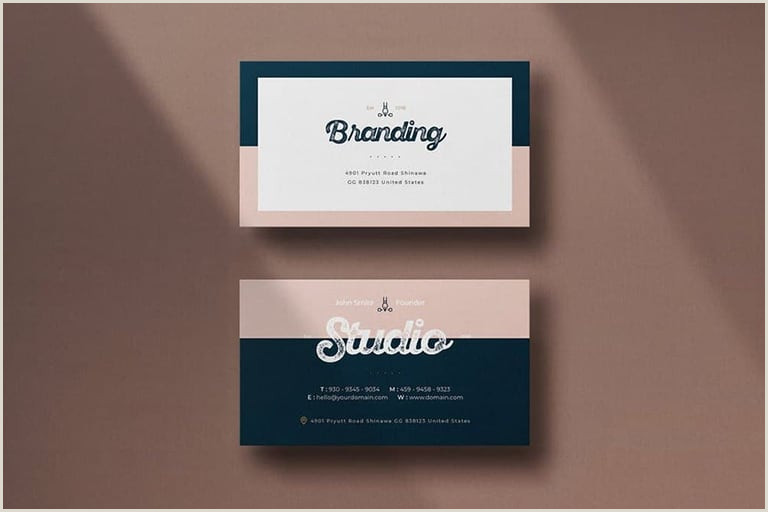 Best Inexpensive Business Cards 20 Best Modern Business Card Templates 2020 Word Psd