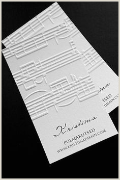 Best Musician Business Cards 15 Best Musician Business Cards Images