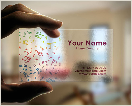 Best Musician Business Cards 20 Fantastic Business Cards For Musicians