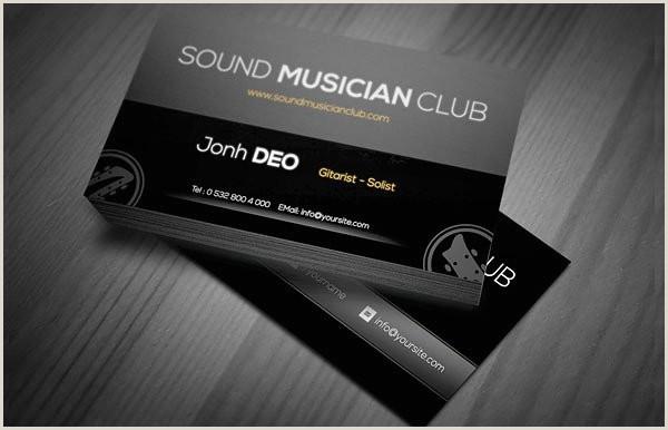 Best Musician Business Cards 20 Musician Business Card Free Psd Eps Illustrator Eps