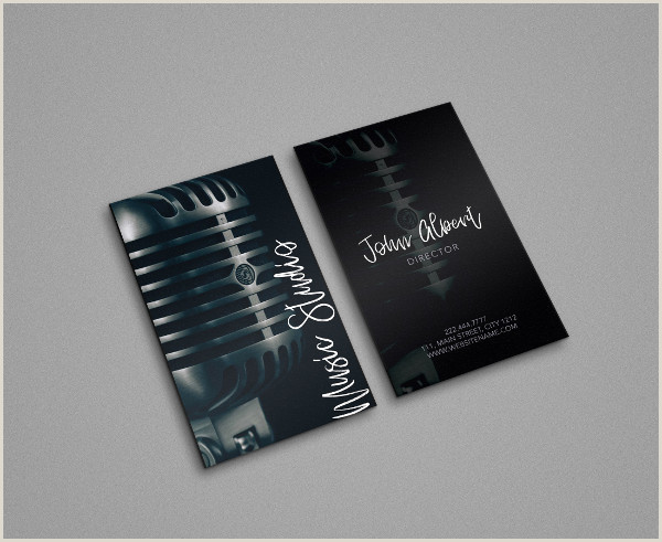 Best Musician Business Cards Music Business Card Template 29 Free & Premium Download
